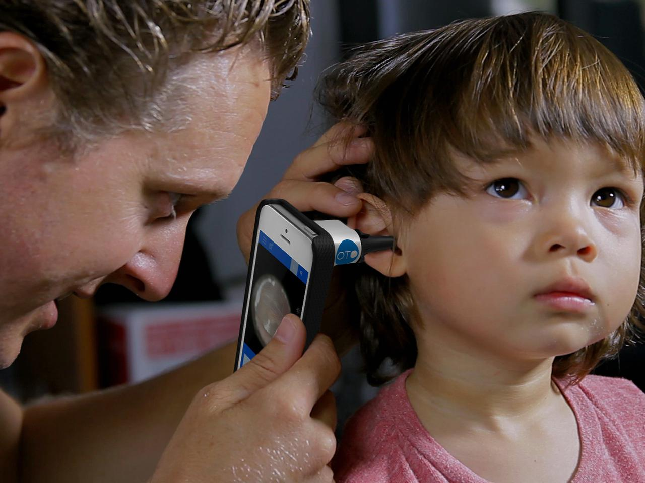 Oto HOME lets parents get their children's ears checked, without a visit to the pediatrician