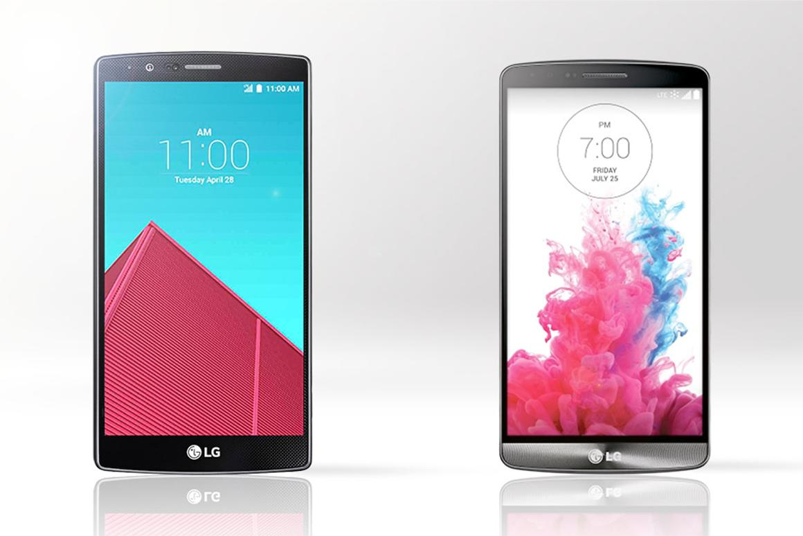Gizmag compares the features and specs of the new LG G4 (left) and last year's LG G3