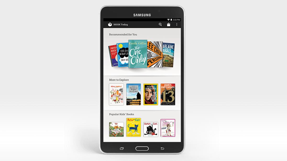 The Samsung Galaxy Tab 4 Nook is a tablet designed specifically for readers, on the software side of things at least