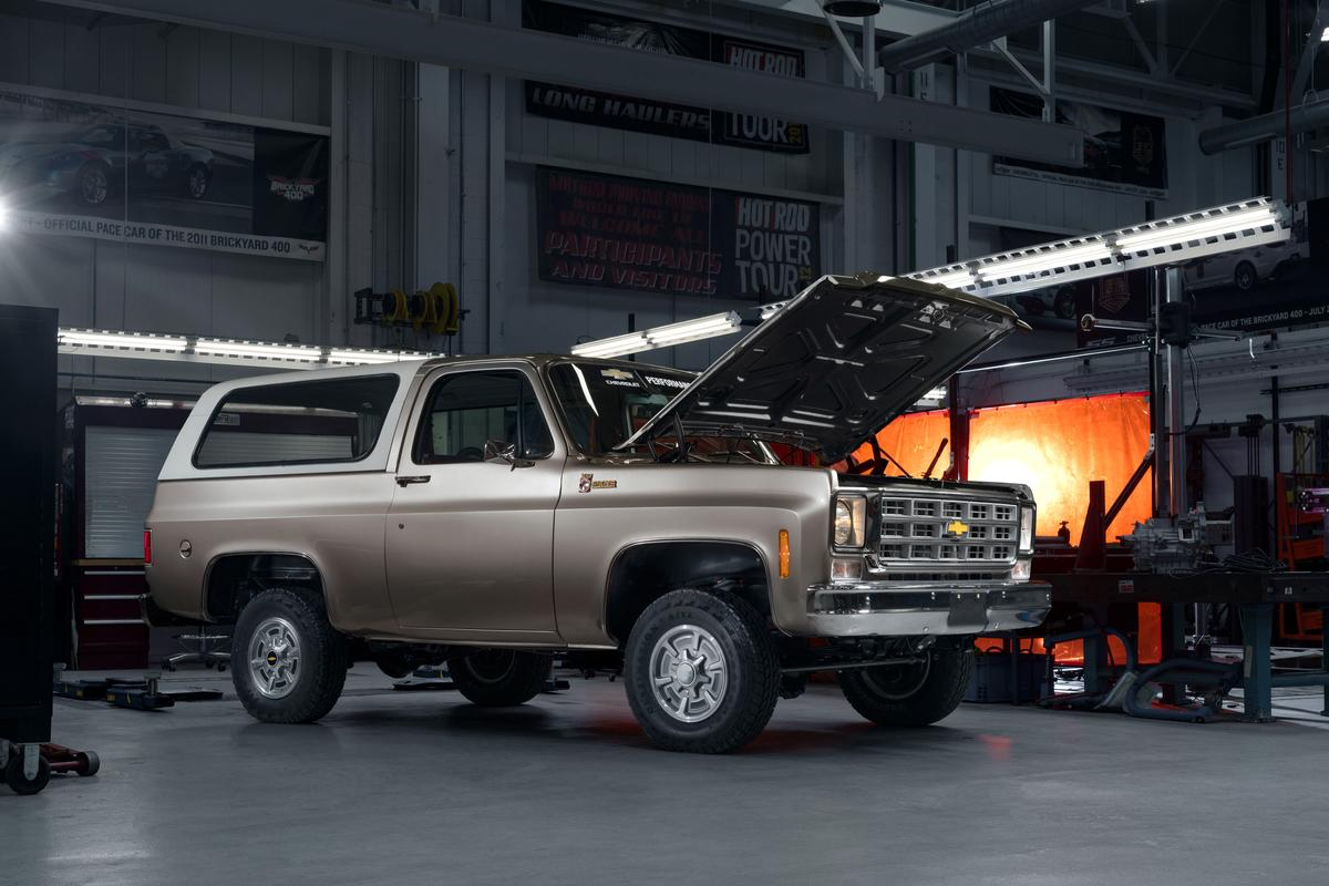 Chevy pulls out the V8 and drops in a 200-hp Bolt e-drive