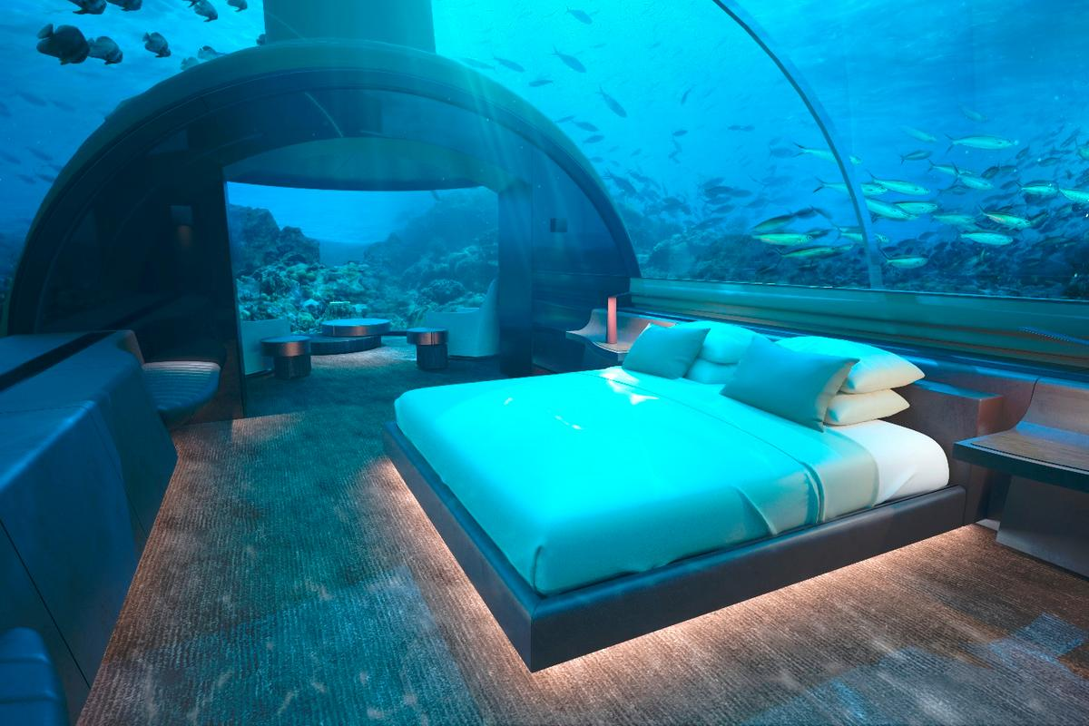 Muraka villa at the Conrad Maldives Rangali Island undersea residence King Guest Suite