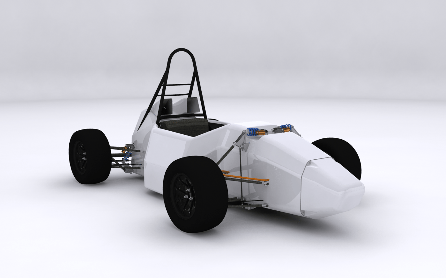 The DUT12 uses a prepreg carbon fiber-reinforced polymer monocoque