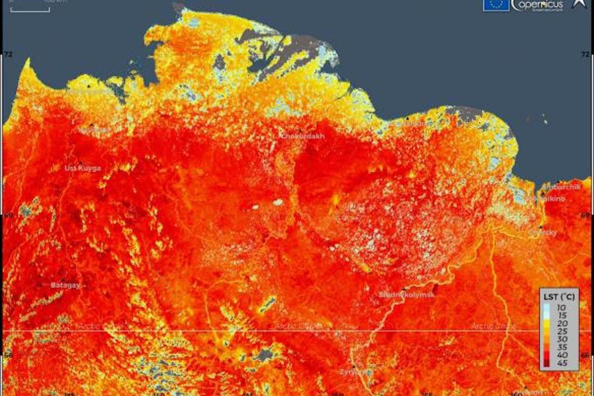 Scientists at a weather station in Siberia have logged an extreme temperature for the region of 38 °C (100.4 °F)
