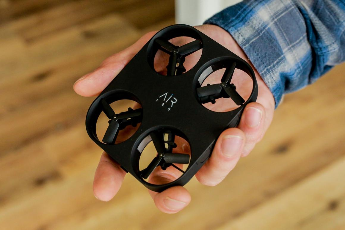 The Air Pix's autonomous mode allows you to snapselfieswithout manually piloting the drone