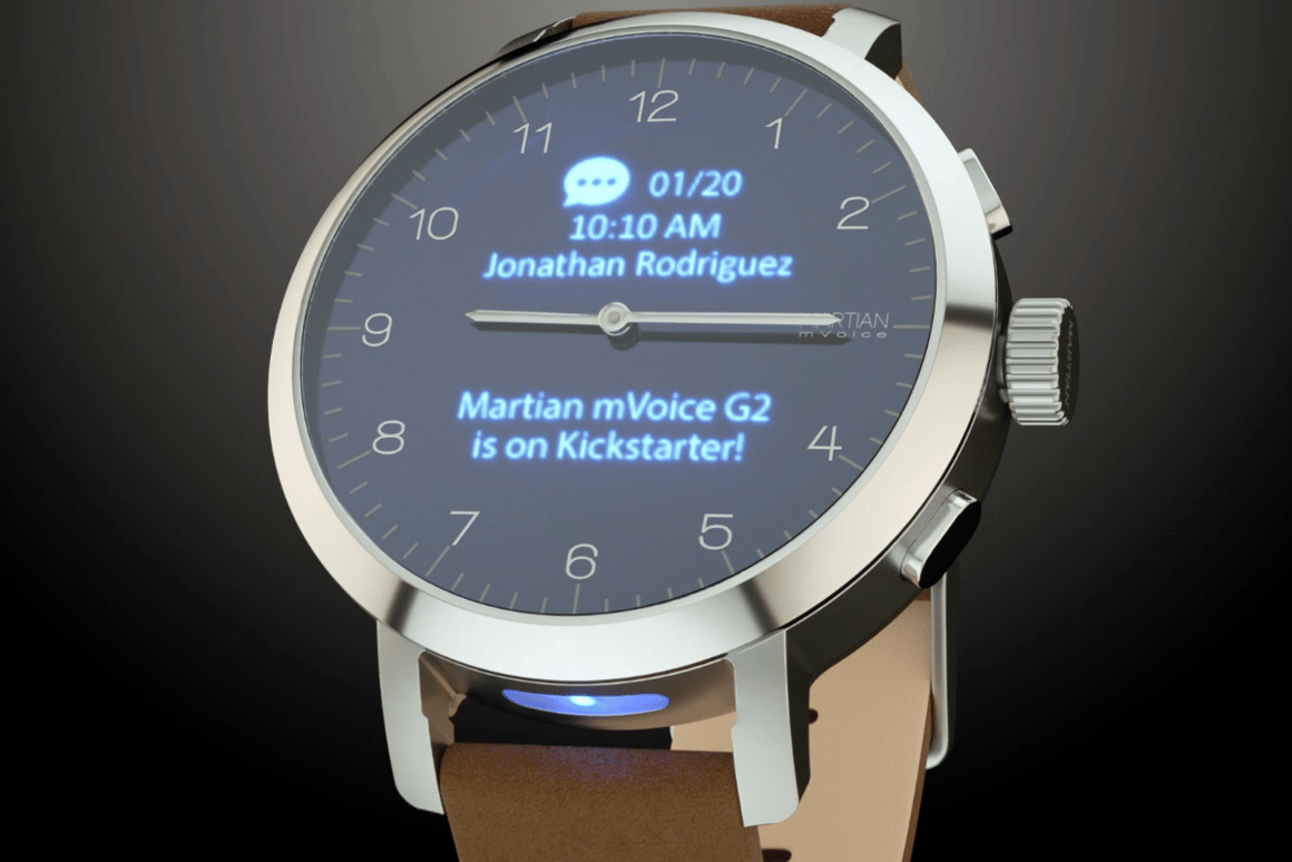 The mVoice G2smartwatchblends theold and thenew