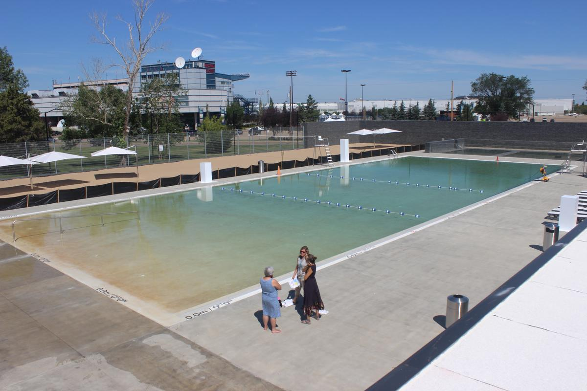 "Using the Borden Natural Swimming Pool is said to be like swimming in ""a very, very, very clean lake"""