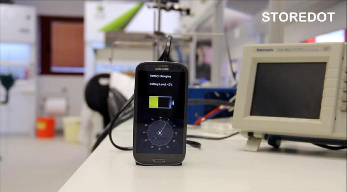Israeli startup StoreDot has showcased a prototype of a new smartphone battery that can reportedly recharge in just under 30 seconds (Photo: StoreDot)