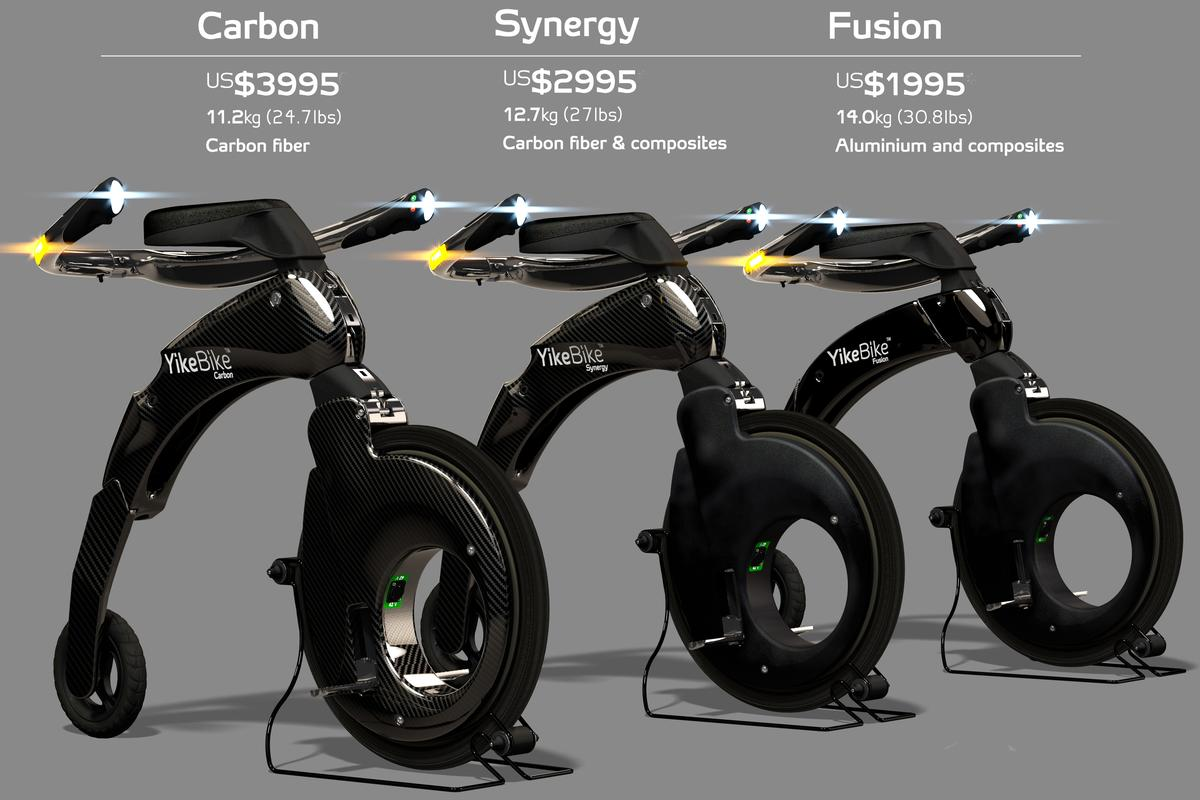 The range of Yikebikes now ranges from US$2000 to US$4000