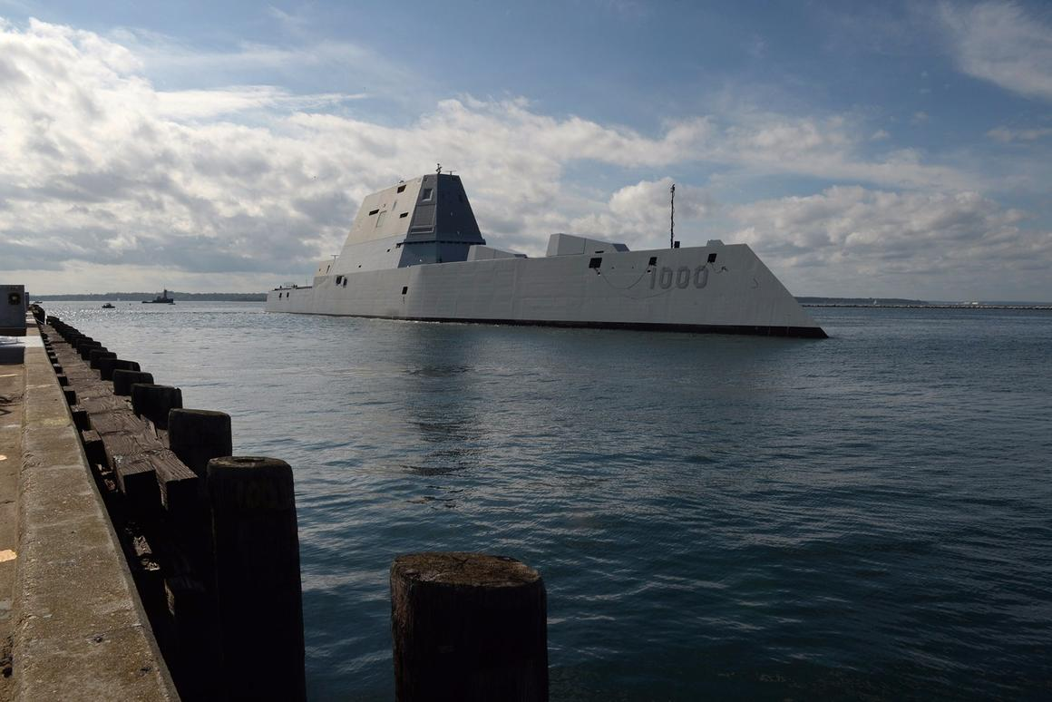 The Zumwalt suffered a minor malfunction shortly after leaving Norfolk