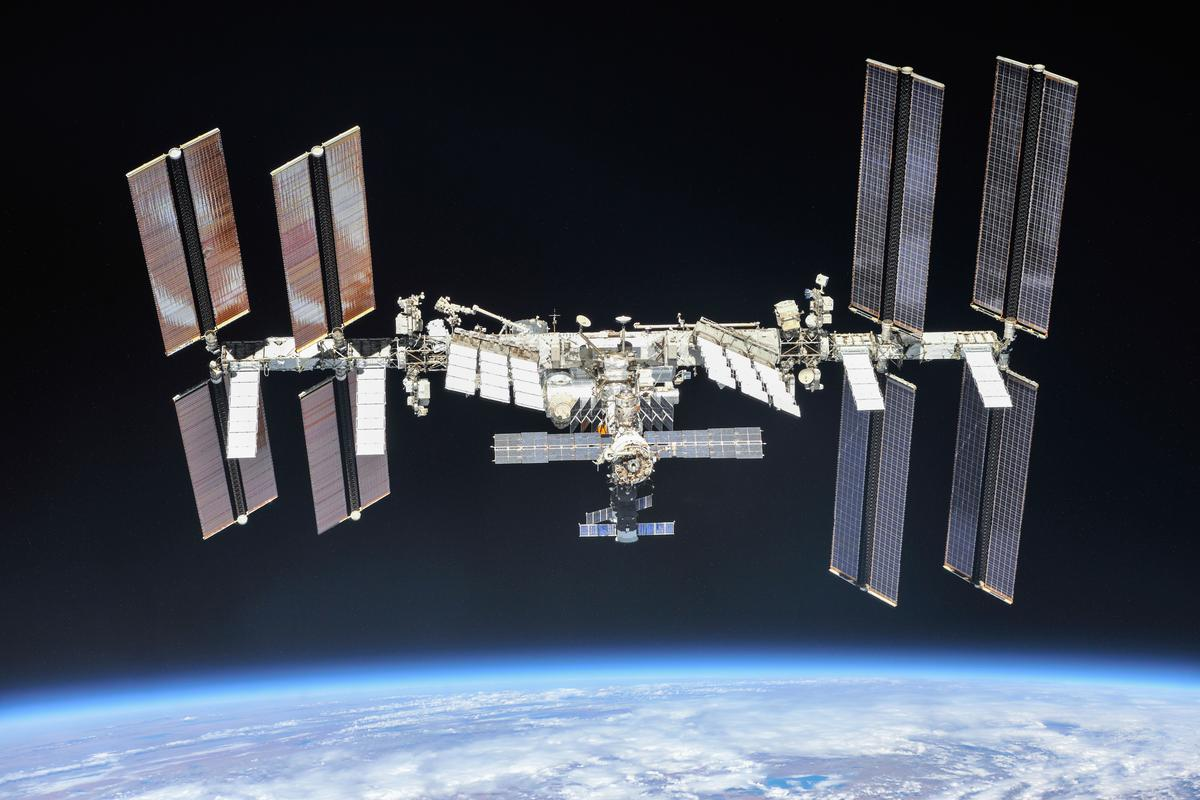 The International Space Station as seen by the crew of Expedition 56 on October 4, 2018
