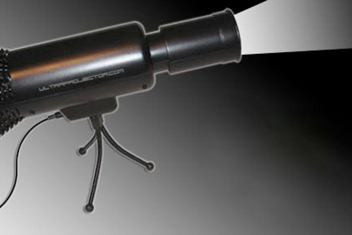 The Ultraprojector stand-alone video projector - no frills but does what it was designed to do - budget video projection