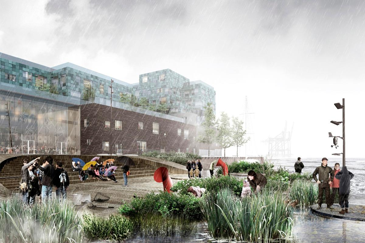 "C.F. Møller describes the islands as an ""urban park on the water"""