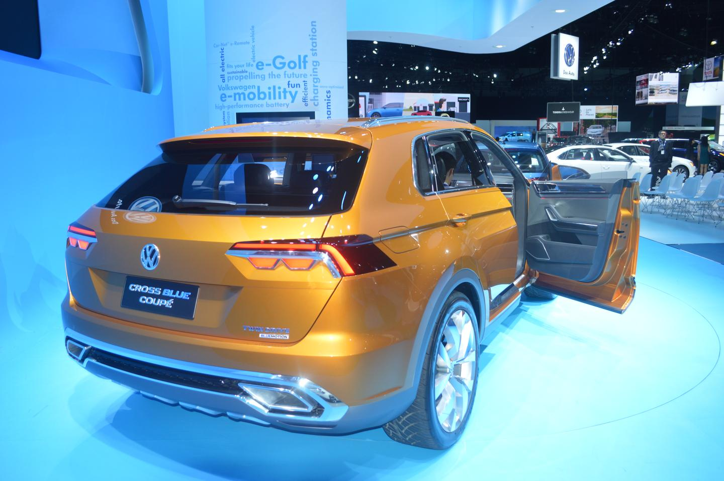 "Volkswagen says the doors open wide for ""optimal entry and egress"""