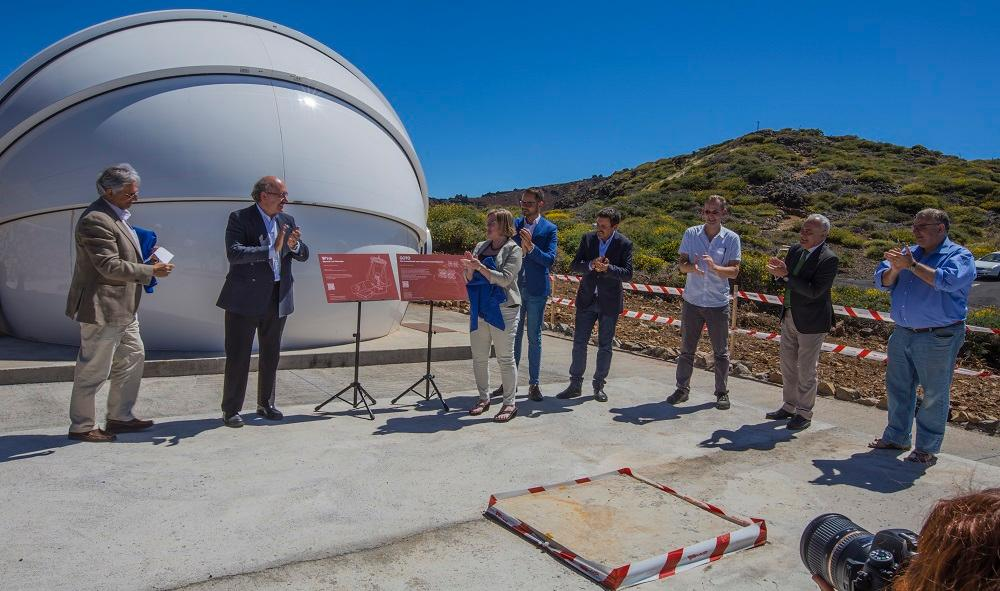 The inauguration of GOTO, at Warwick University's observatory facility on the island of La Palma in Spain