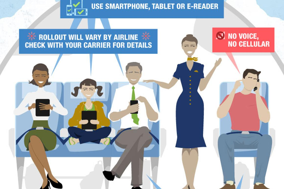 FAA relaxes rules on in-flight use of electronic devices