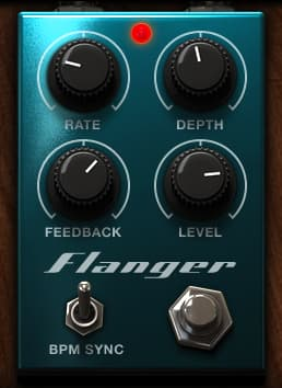 Based on a digital flanger stomp box, this effect generates jet-like modulation effects