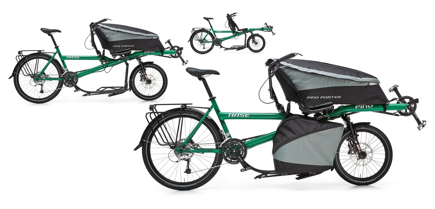 The Pino Porter offers a variety of cargo-hauling options