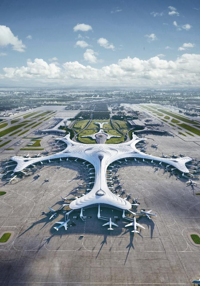 Harbin Airport T3's design references Harbin's geography and harsh cold climate