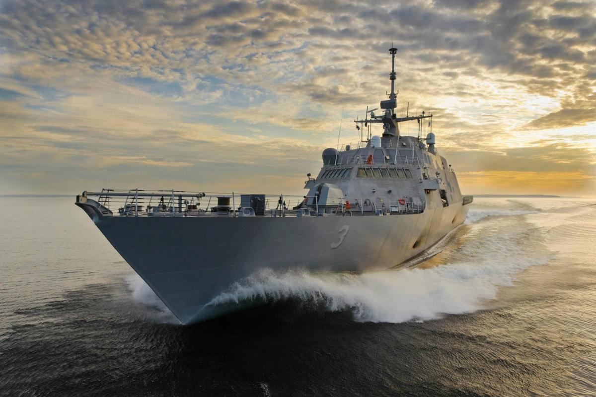 The purpose of the new jets is to increase the speed of the LCS while lowering running costs ( USS Fort Worth (LCS 3)