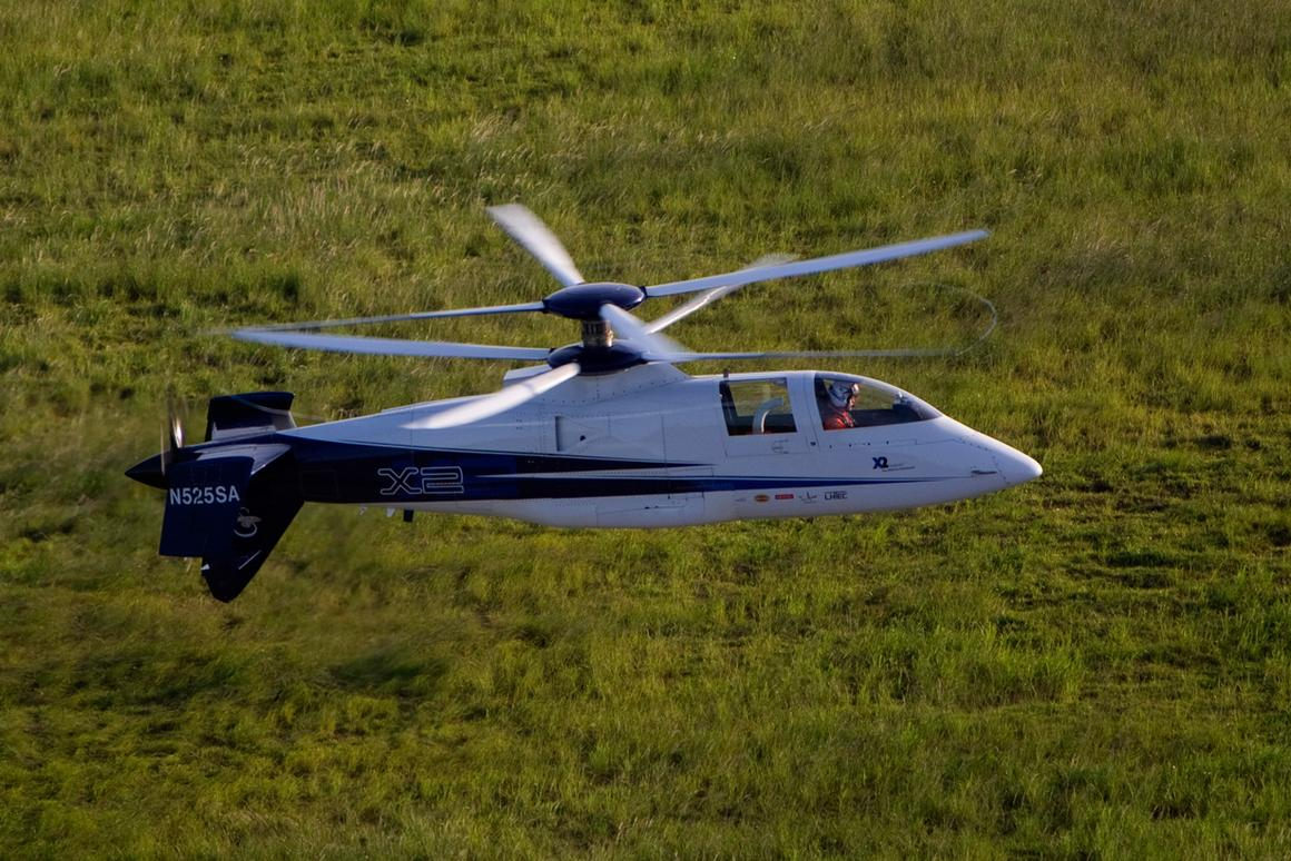 Sikorsky's X2 Technology Demonstrator on its final flight on July 14, 2011