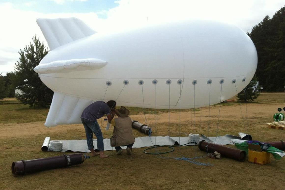 According to the designers, they have produced and flown a scale prototype of the blimp