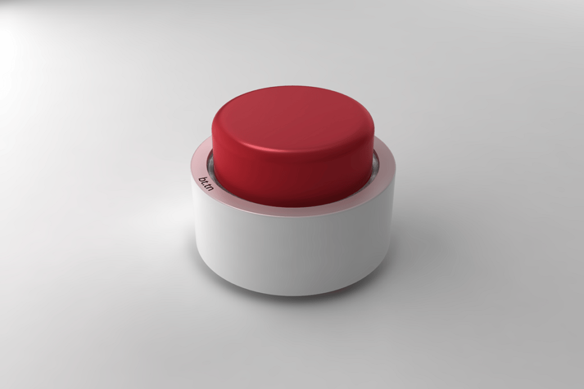 Bttn is a big red button which can be programmed to perform a multitude of tasks