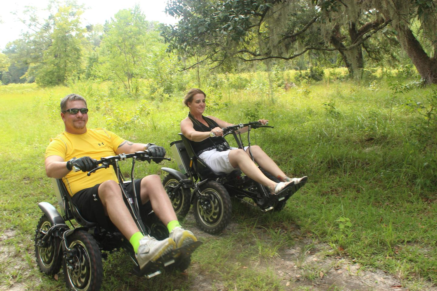 The Zoom allows people with limited mobility to venture off the pavement