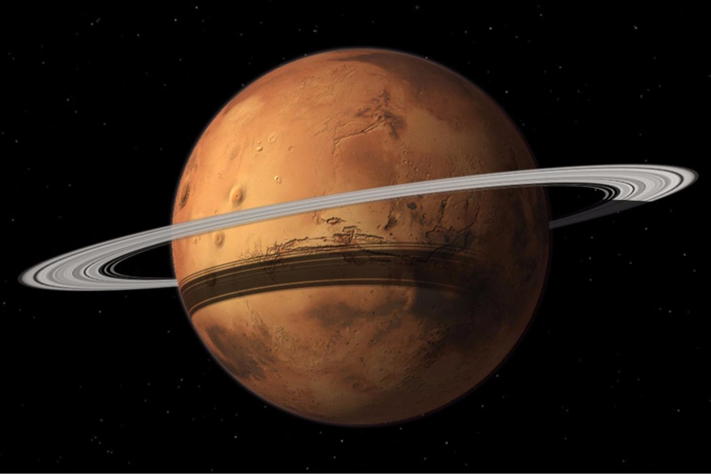 Mars could gain a ring when its moon Phobos is torn to shreds by the Red Planet's gravity
