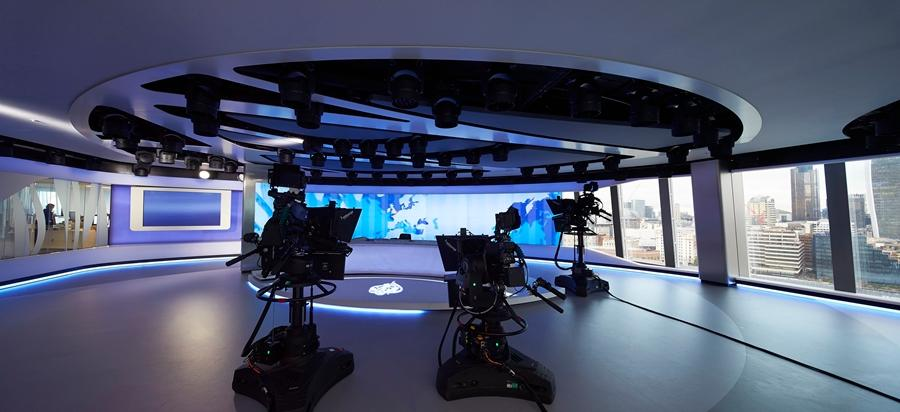 The new Al Jazeera Media Network facility at the Shard in London, UK, incorporates a broadcast production facility, multi-purpose newsroom and studio