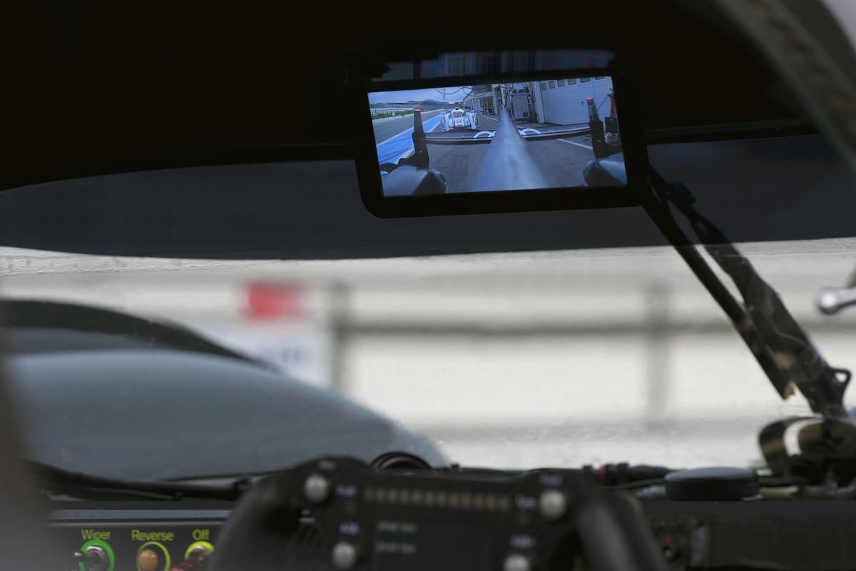 A new addition to the dominant Audi R18 cars for this year's Le Mans 24 Hour will be an AMOLED digital rear view mirror