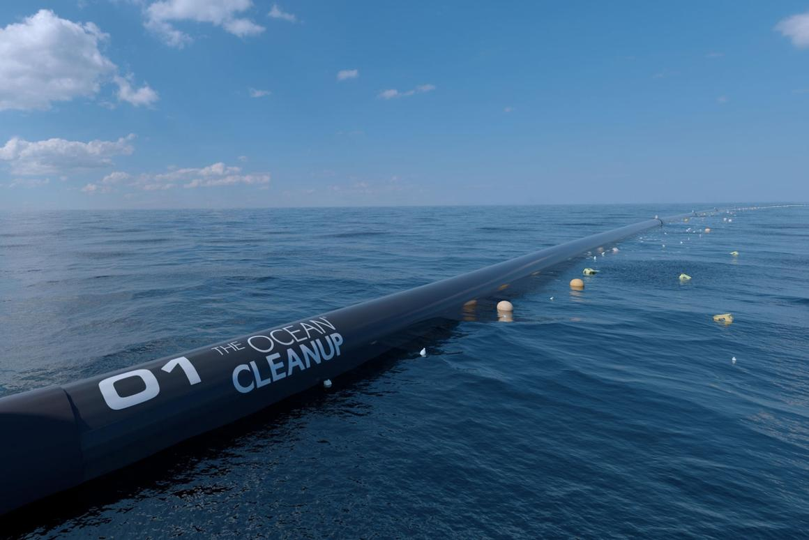 The Ocean Cleanup Project expects that its trash-catching barriers can cleanup 50 percent of the Great Pacific Garbage Patch every five years