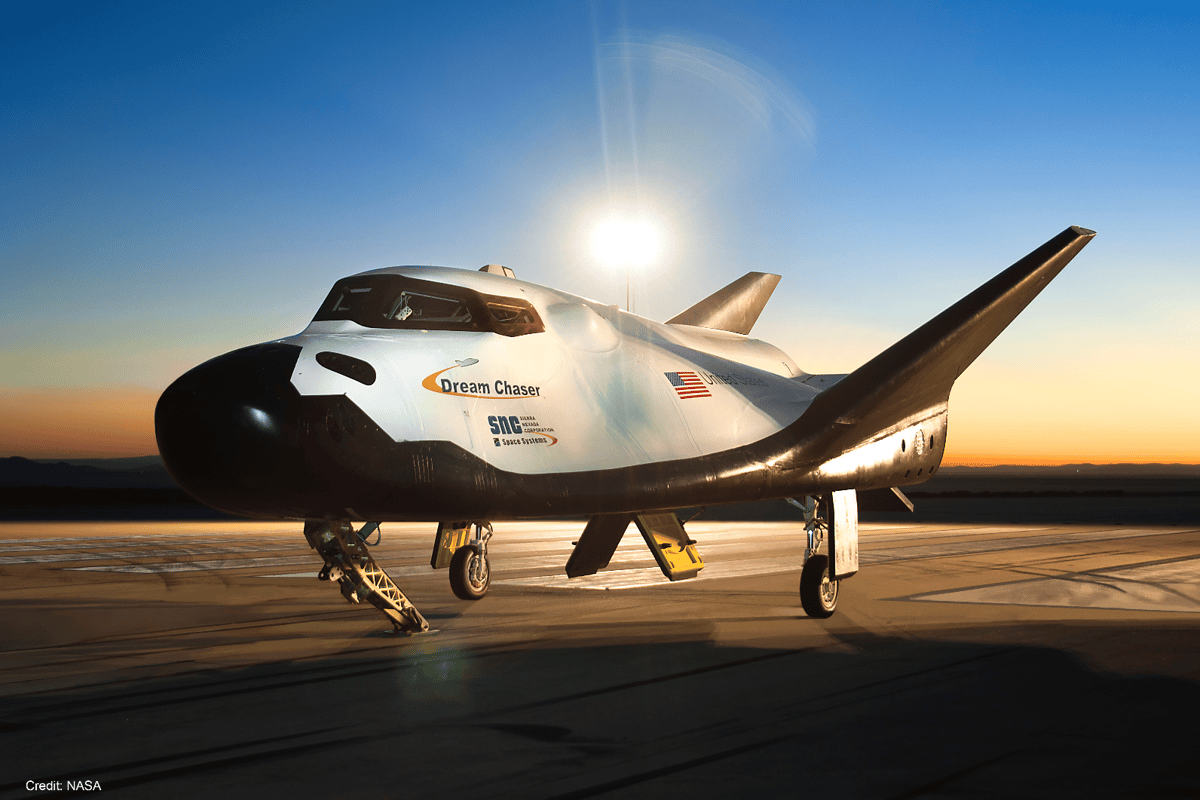 The current design is unmanned but allows for a future variant to include a crew of up to seven