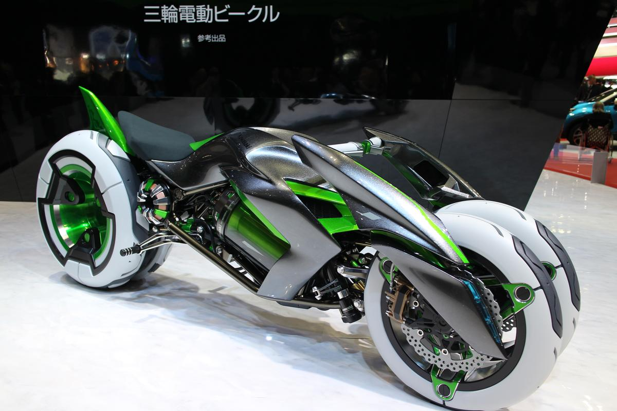 Kawasaki's J concept on show at the 2013 Tokyo Motor Show (Photo: Mike Hanlon /Gizmag.com)