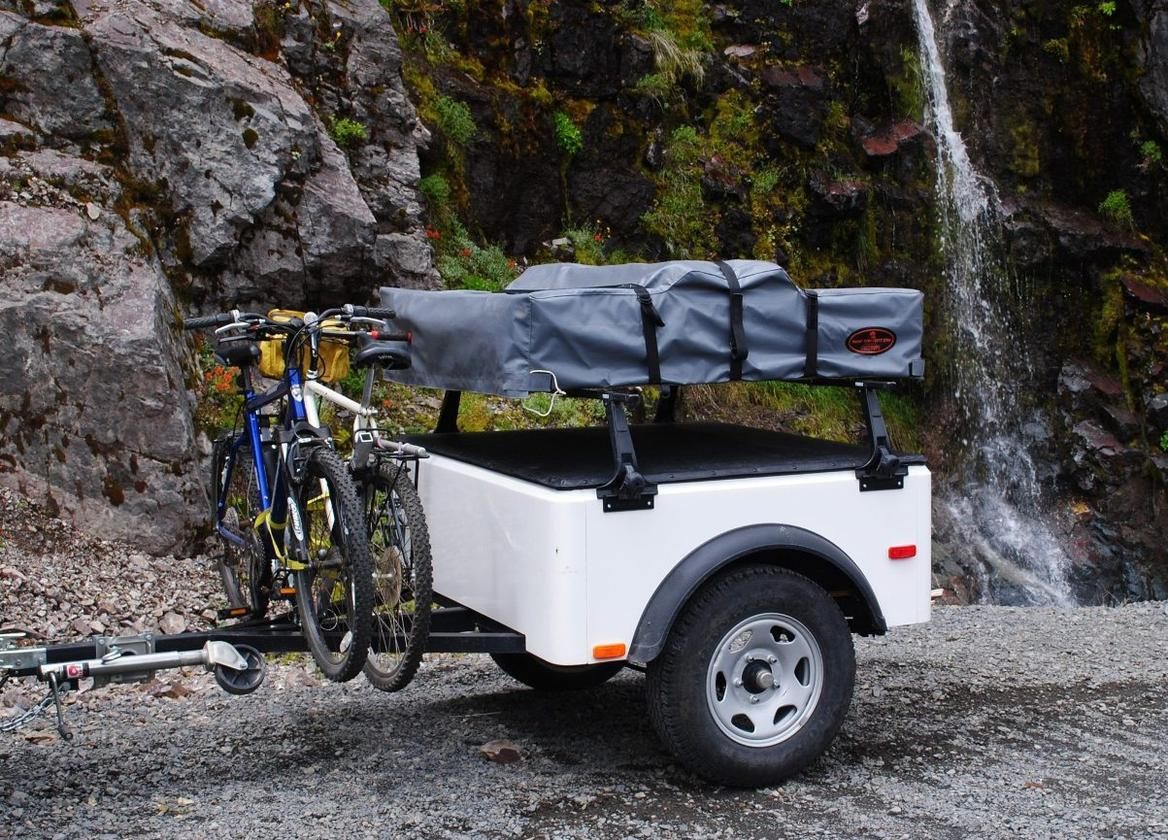 The Dinoot can be outfitted with various racks and gear-hauling equipment