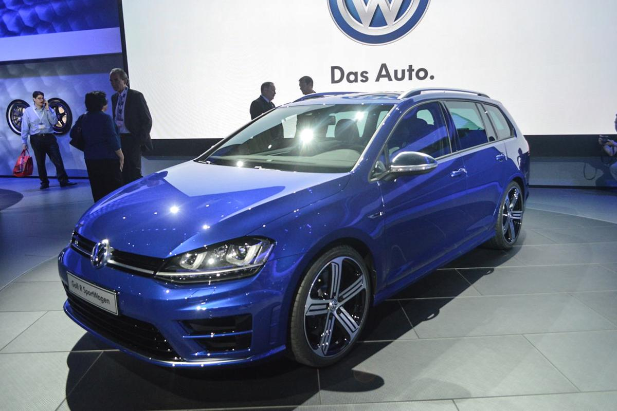 The Golf R Wagon at the LA Auto Show (Photo: CC Weiss / Gizmag.com)