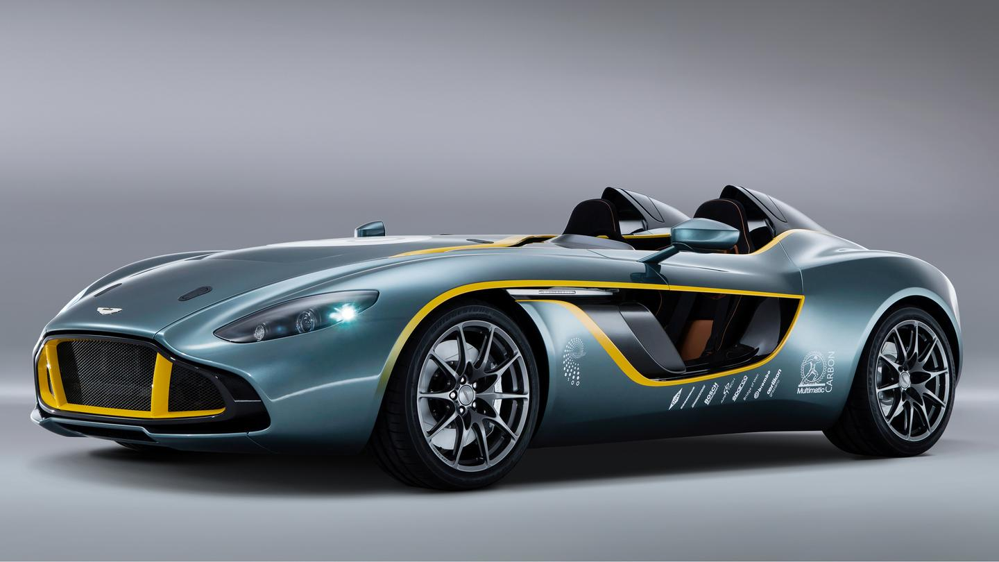 Powering the mostly carbon fibered Speedster is the job of Aston Martin's AM11 6.0 liter V12
