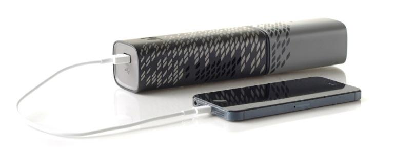 An iPhone and the Upp fuel cell charger