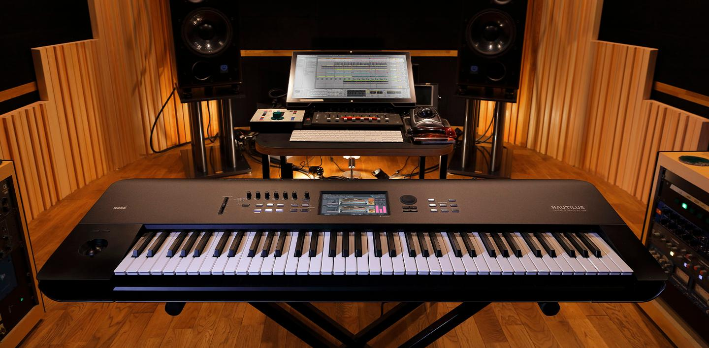 The Nautilus synthesizer and music production workstation includes nine sounds engines from Korg's flagship Kronos system
