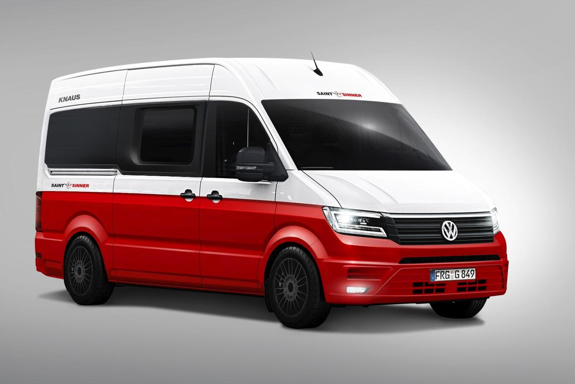 The Saint & Sinner is based on a Vollkswagen Crafter 35 with 8.5-ft-highroof