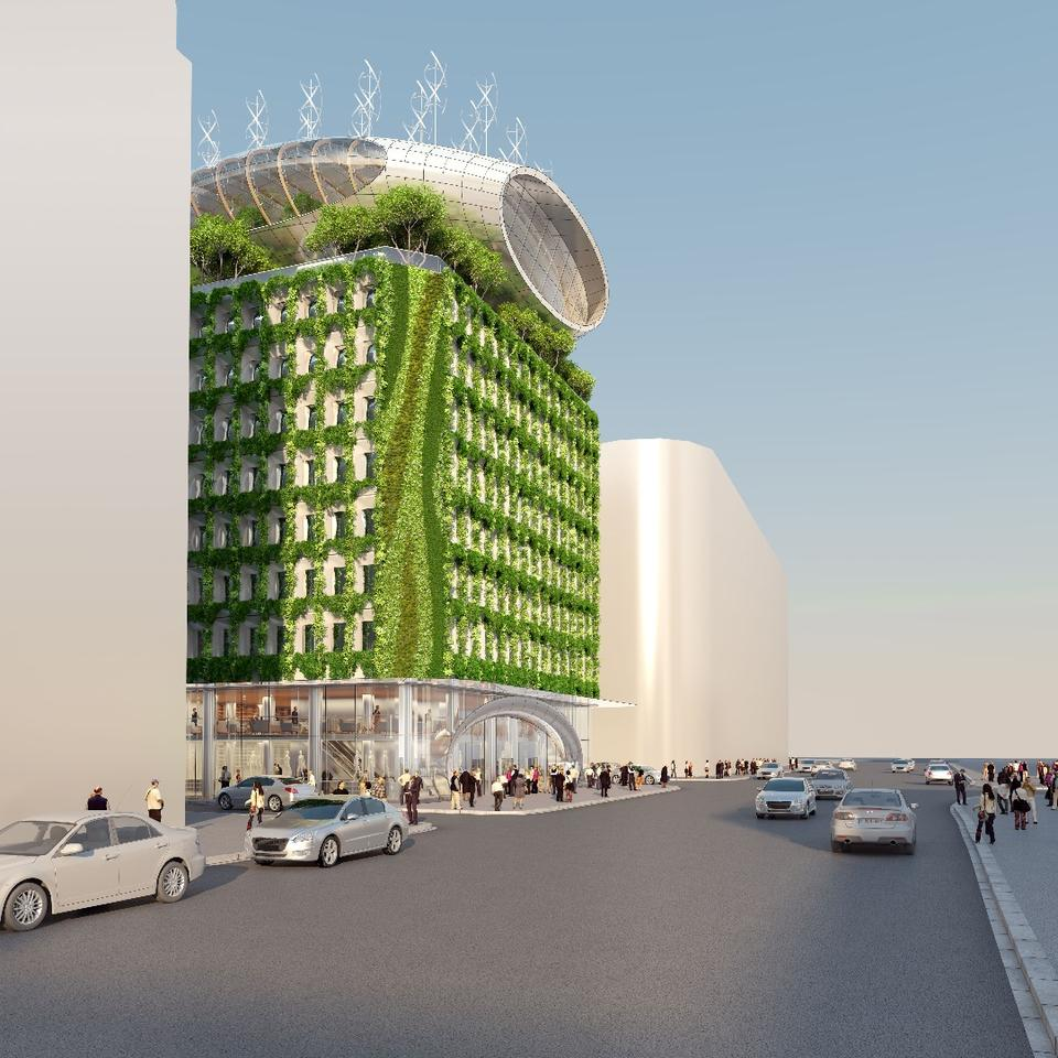 Belgian sustainable architecture proponent Vincent Callebaut has unveiled his vision for renovating Brussels' Botanic Center