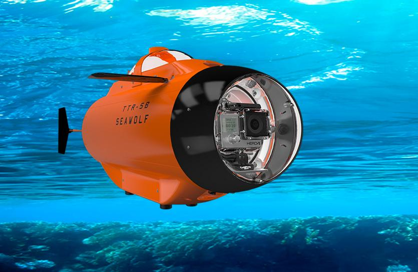The GoPro-packin' Seawolf remote-control submarine