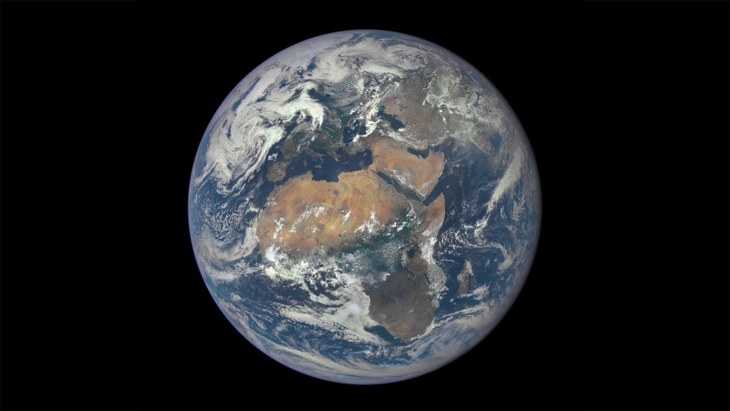 Image of Earth captured by NASA's Deep Space Climate Observatory (DSCOVR) satellite