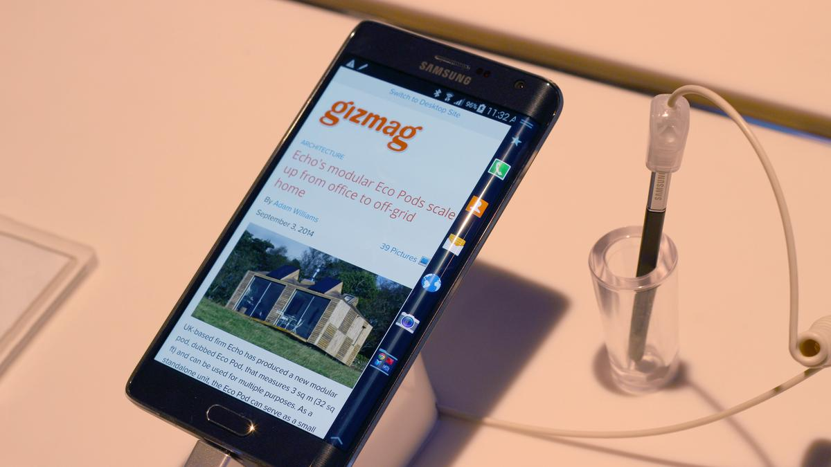 Gizmag goes hands-on with the Galaxy Note Edge