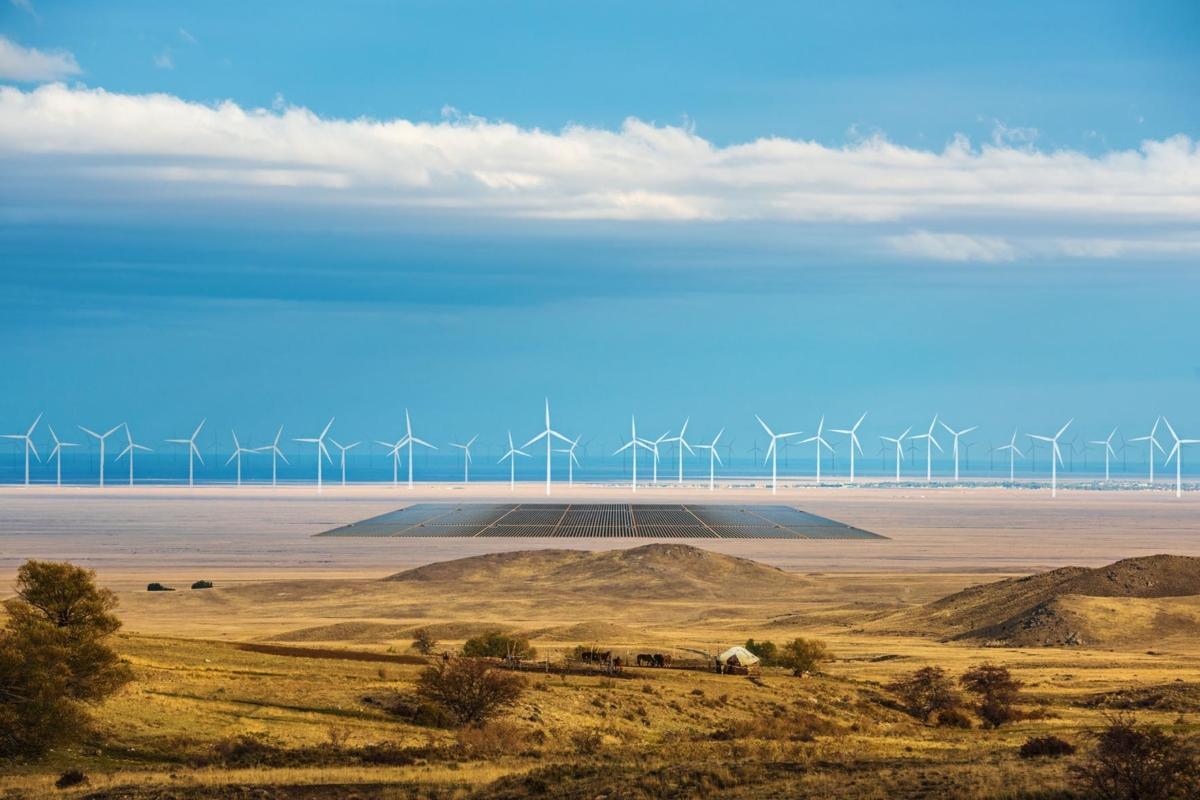 Photoshopped image: German company Svevind is planning a monster 45-gigawatt renewable energy scheme in Kazakhstan