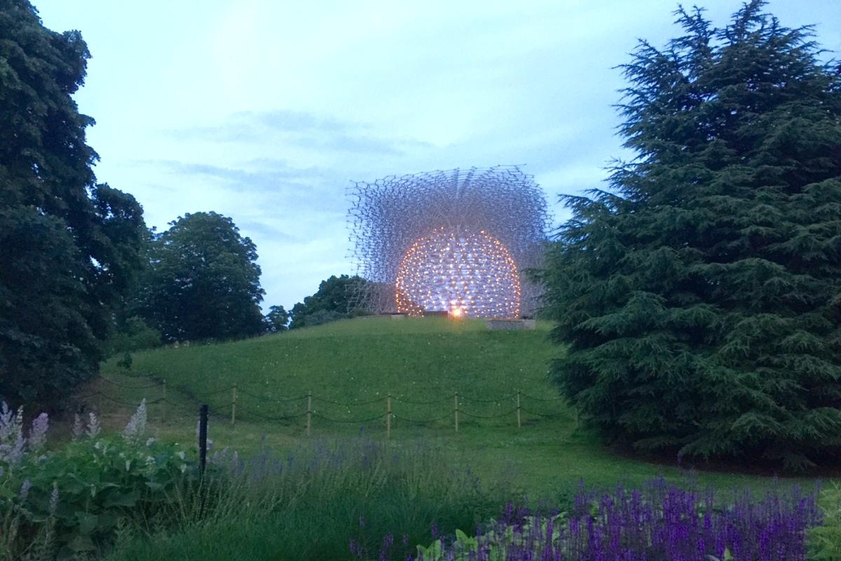 The Hive at Kew Gardens in London is a new installation inspired by recent research on bee communication