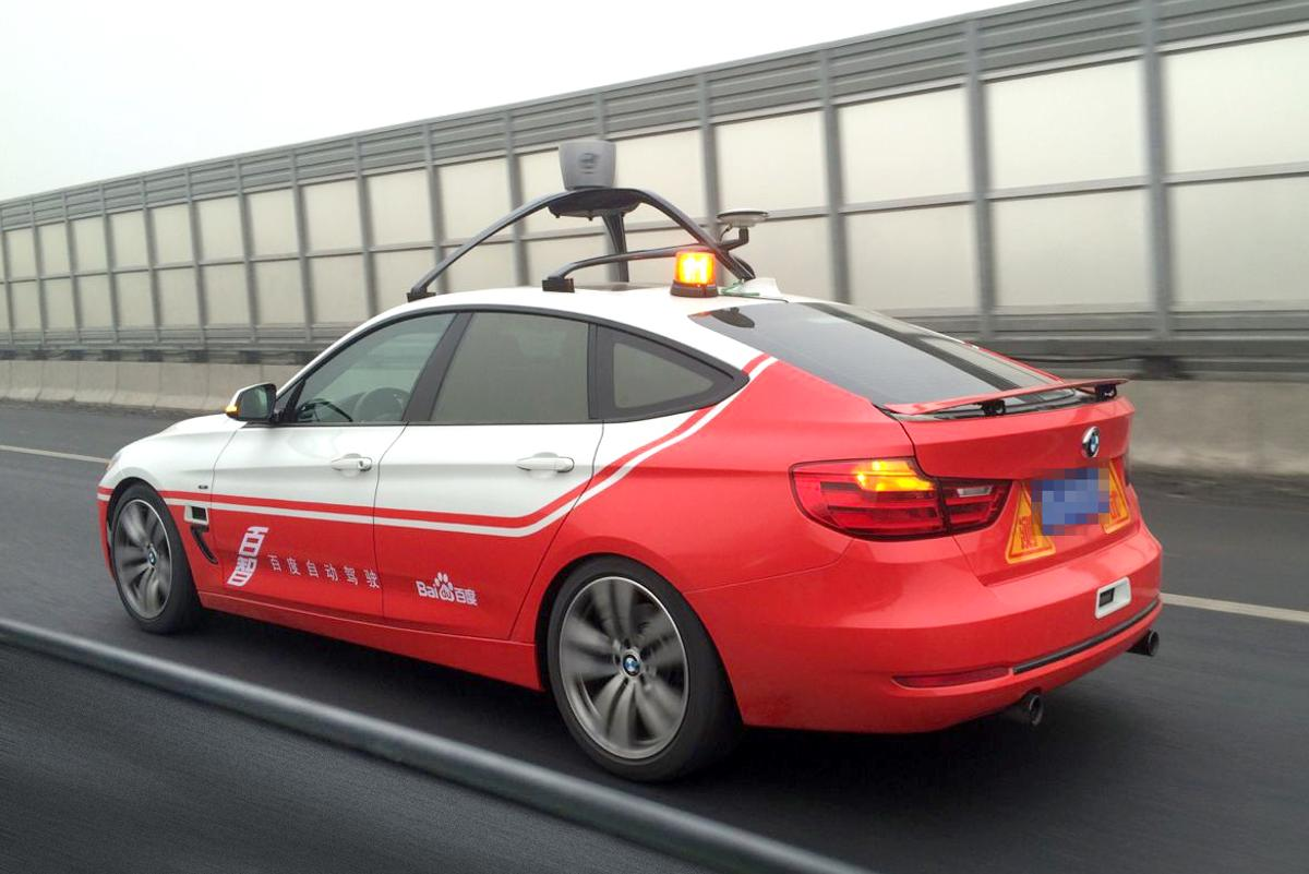 """Baidu has been using a modified BMW 3 Series for the tests with its own """"AutoBrain"""" autonomous driving technology"""