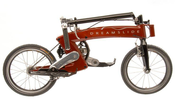 The Dreamslide allows riders to stand while pedaling