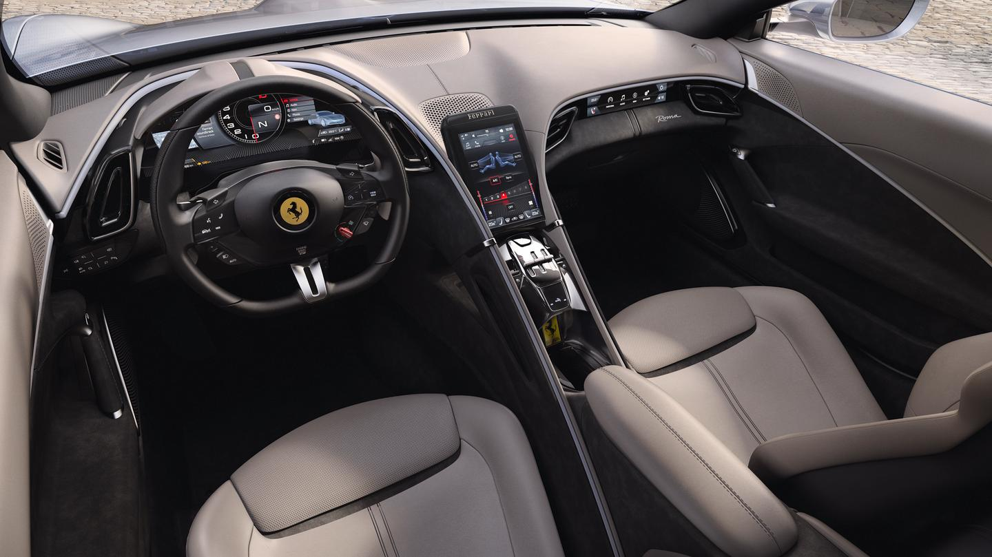 Interior view of the new Ferrari Roma