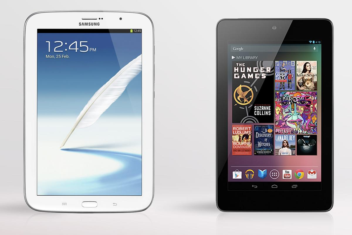 We compare the specs - and other features - of the Samsung Galaxy Note 8.0 and Google/Asus Nexus 7