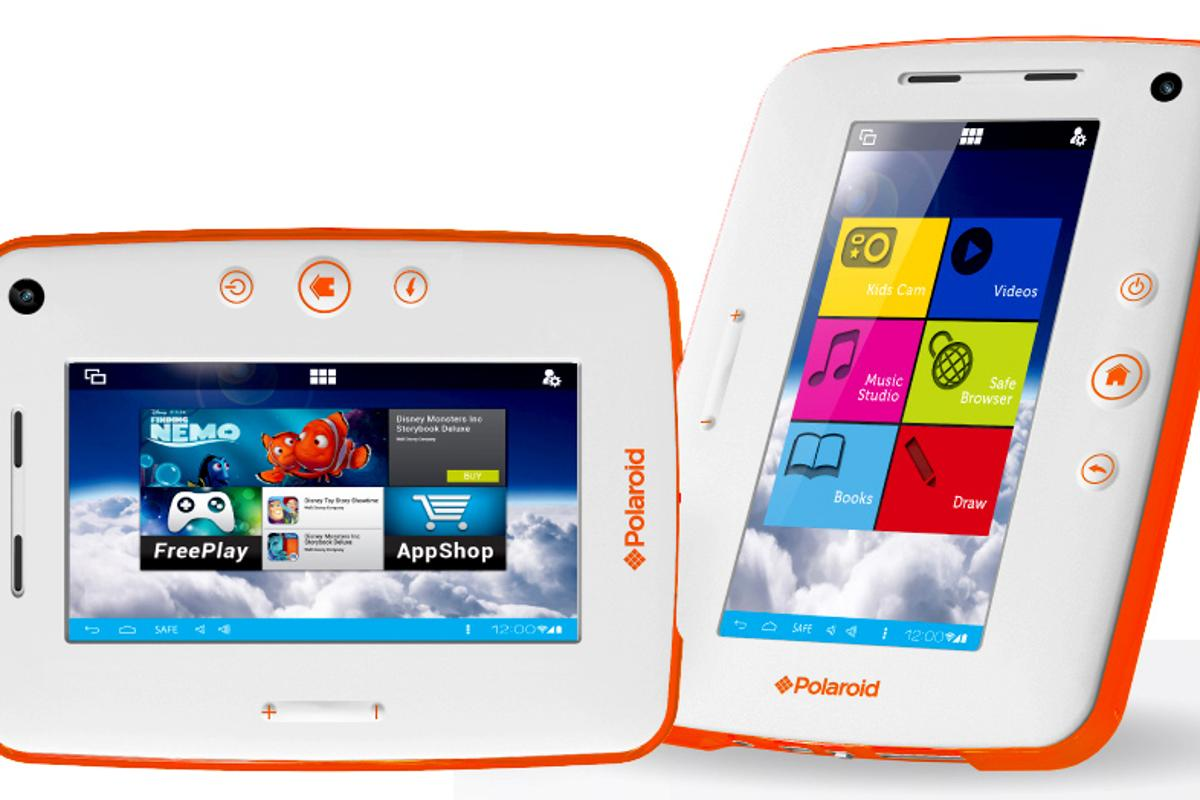 The Polaroid Kids Tablet 2 features a 1024 x 600 resolution display and a 1.6 GHz dual-core Cortex-A9 processor